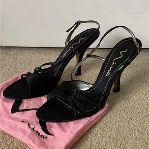 Nina Black Evening Heels